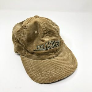 Vintage Telluride Corduroy and Leather Hat
